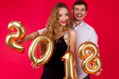 New Year 2018 friend`s party Royalty Free Stock Photography