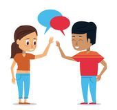 Young couple of friends. Icon vector illustration graphic design Royalty Free Stock Image