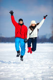 Young couple fun Stock Images