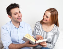 Young couple get it Stock Image