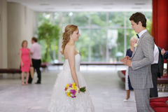 Young couple getting married Royalty Free Stock Photography