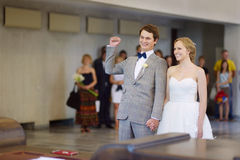 Young couple getting married Royalty Free Stock Photos