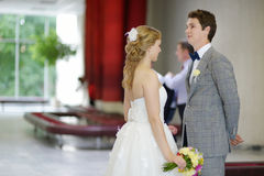 Young couple getting married Stock Image
