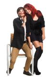 Young couple,  glamour vogue style Royalty Free Stock Image
