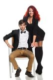 Young couple,  glamour vogue style Royalty Free Stock Photography