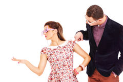 Young couple in glasses Stock Photography