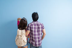 Young couple go to trave Stock Photography