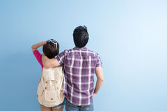 Young couple go to trave Royalty Free Stock Photography