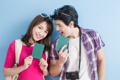 Young couple go to travel Stock Photography
