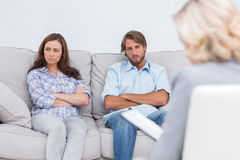 Young couple going through therapy. And listening to the therapist Royalty Free Stock Photo