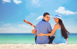 Young couple with guitar Stock Photo