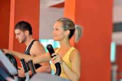 Young couple in the gym Stock Image