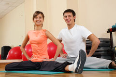 Young couple at the gym Royalty Free Stock Photography