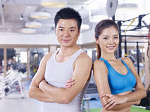 Young couple in gym Stock Image