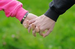 Young couple hands Royalty Free Stock Photography