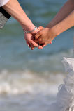 Young couple hands together Royalty Free Stock Image