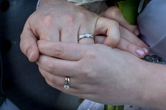 Young couple hands Royalty Free Stock Photos