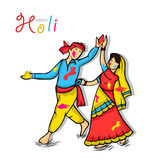 Young couple for Happy Holi festival celebration. Stock Image