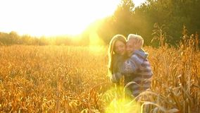 Young Couple Happy Sun stock video footage