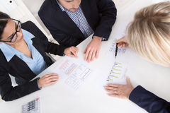 Free Young Couple Has Consultation With Consultant At Desk At Office. Stock Image - 37962501