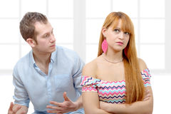 Young couple have an argument because of relationship crisis Royalty Free Stock Photo