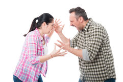 Young couple having an argue stock image