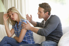 Young Couple Having Argument At Home Royalty Free Stock Photos