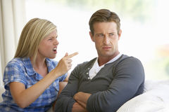 Young Couple Having Argument At Home Royalty Free Stock Photo