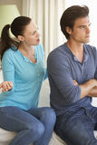 Young Couple Having Argument At Home Stock Images