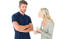 Young couple having an argument Stock Photography