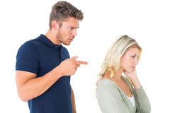 Young couple having an argument Stock Image