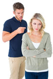 Young couple having an argument Royalty Free Stock Images