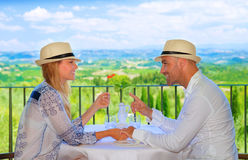 Young couple having breakfast Royalty Free Stock Photography