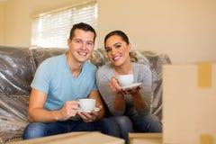 Young couple having coffee Stock Photo