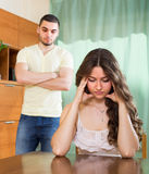 Young couple having conflict at home Royalty Free Stock Image