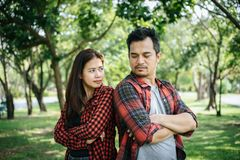 Free Young Couple Having Conflict.Problems In Relationship Image Is Intentionally Royalty Free Stock Photo - 163971675