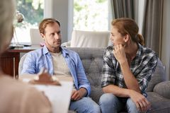 Young couple having counselling royalty free stock image