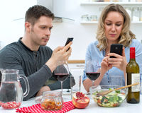 Young couple having dinner. Royalty Free Stock Photography