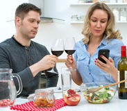 Young couple having dinner. Stock Photo