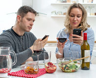 Young couple having dinner. Royalty Free Stock Photos
