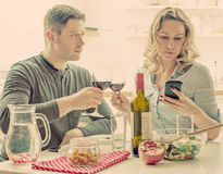 Young couple having dinner. Stock Images