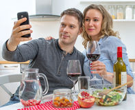 Young couple having dinner. Royalty Free Stock Image