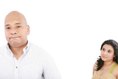 Young couple having a dispute Royalty Free Stock Images