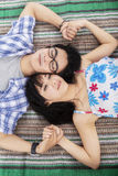 Young couple having dream royalty free stock photo