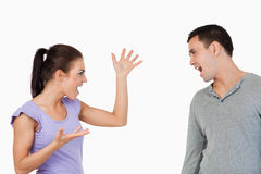 Young couple having a fight Royalty Free Stock Image