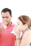 Young couple having the flu Stock Image