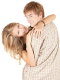 Young couple having fun Royalty Free Stock Images