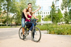 Young couple having fun Stock Photos
