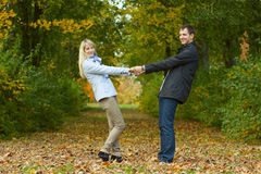 Young couple having fun Stock Photo