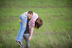 Young Couple Having Fun Stock Image